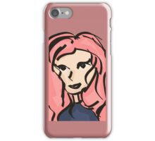 Pretty girl Journal, stickers, prints & more.  iPhone Case/Skin