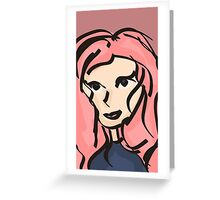 Pretty girl Journal, stickers, prints & more.  Greeting Card