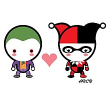 Harley Quinn and The Joker Photographic Print