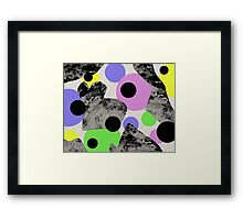 Floating Circles Framed Print