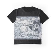English Mickey Graffiti Wall Graphic T-Shirt