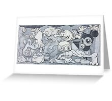 English Mickey Graffiti Wall Greeting Card
