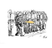 riot cops study Photographic Print