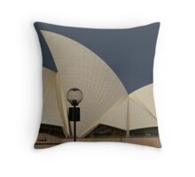 Cream sails in the sunset Throw Pillow
