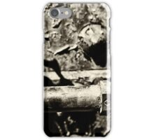 Steam Engine Parts 2 Vintage BW iPhone Case/Skin