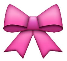 Pink Emoji Bow by Moxie Graphics