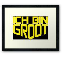 Ich Bin Groot Framed Print