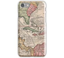 Vintage Map of The Caribbean (1732) iPhone Case/Skin