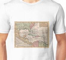 Vintage Map of The Caribbean (1732) Unisex T-Shirt