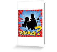 Who's That Pokemon Greeting Card