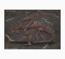 Western Dragon Skeleton Anatomy One Piece - Short Sleeve