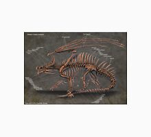 Western Dragon Skeleton Anatomy Unisex T-Shirt