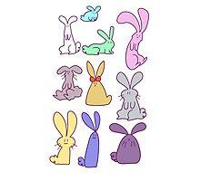 Pastel Bunnies! Photographic Print