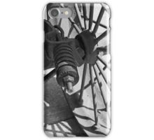 Steam Engine Wheel 4 BW iPhone Case/Skin