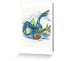 Mount Rainer and the Seahawk Greeting Card