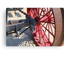 Steam Engine Wheel 4 Canvas Print
