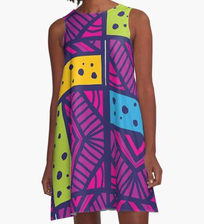 A Neue batik A-Line Dress