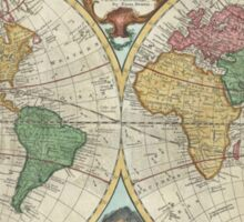 Vintage Map of The World (1744) Sticker