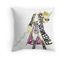Robin Typography Throw Pillow