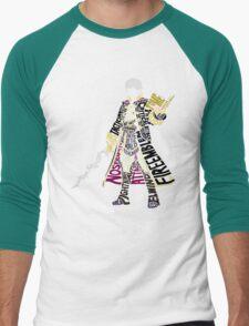 Robin Typography Men's Baseball ¾ T-Shirt