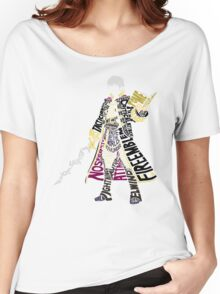 Robin Typography Women's Relaxed Fit T-Shirt