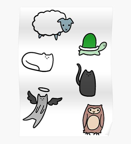 Cute Animals! Poster