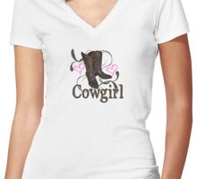Cowgirl Women's Fitted V-Neck T-Shirt
