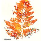 Autumn Leaves Orange Fern RD Riccoboni by RDRiccoboni