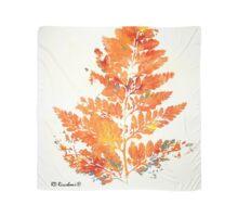 Autumn Leaves Orange Fern Scarf