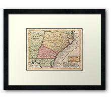 Vintage Map of The Carolinas (1746) Framed Print