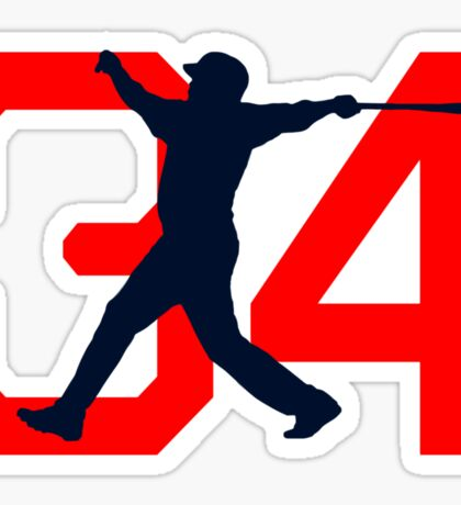 David Ortiz Farewell 34 big papi Sticker