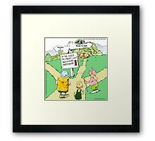 All Paths Lead Somewhere Heavenly Framed Print