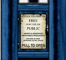 Free For Use Of Public - Tardis Door Sign - iPad Case by Ra12