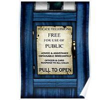 Free For Use Of Public - Tardis Door Sign - (please see description) Poster