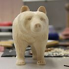HAND CARVED BEAR by Jack Catford