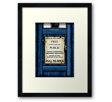 Free For Use Of Public - Tardis Door Sign - Samsung Phone Case Framed Print