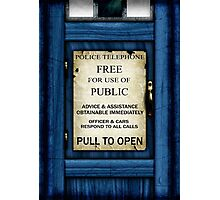 Free For Use Of Public - Tardis Door Sign - Samsung Phone Case Photographic Print