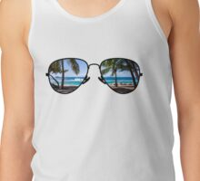 Palm Trees Through Sunglasses Tank Top