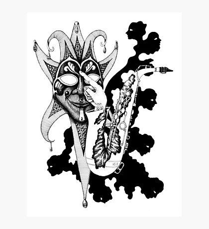 Understanding Music surreal ink pen drawing Photographic Print