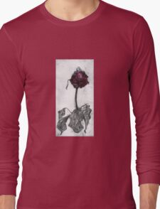 Dying Rose Long Sleeve T-Shirt