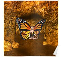 Cave Dweller Butterfly Fairy Elf Fantasy  Poster