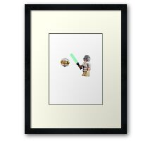 Lightsaber lessons Framed Print