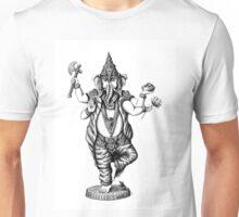 God Ganesha ink pen drawing Unisex T-Shirt