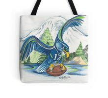 Mount Rainer and the Seahawk Tote Bag