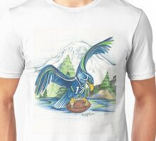 Mount Rainer and the Seahawk Unisex T-Shirt