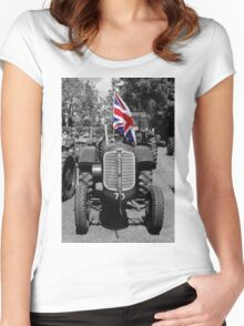 Oliver Tractor  Women's Fitted Scoop T-Shirt