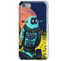 Lonely robot on remote planet darwing iPhone Case/Skin