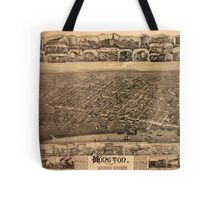Map Of Moncton 1888 Tote Bag