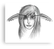 Elf Girl Head Canvas Print