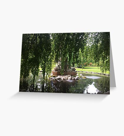 Fountain in the Gardens Greeting Card